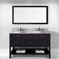 Standard Height Of Bathroom Vanity by Bathroom Top Art Bathe Lily 63 White Double Vanity Solid Hardwood