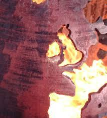 floating fire pit craftsmen in metal uk fire sphere sculptural fire pit noveltystreet