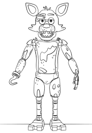 fnaf mangle coloring pages fnaf foxy coloring page five nights at freddy s