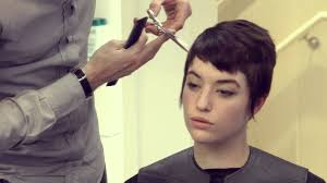 short pixie haircut with burberry colour by paul u0026 martin