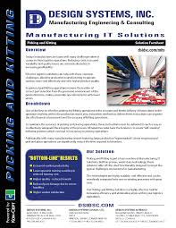 design systems inc manufacturing it solutions picking and