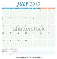 calendar 2015 september vector design template stock vector