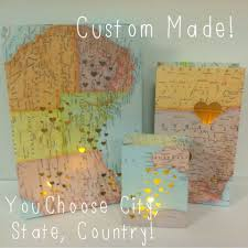 Travel Decor by Travel Decorations 3 Map Luminaries Travel Travel Themed