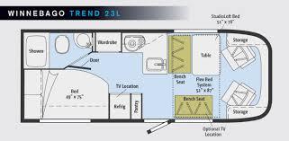 Itasca Rv Floor Plans by Winnebago Trend 23l Www Trailerlife Com