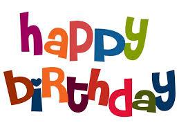 happy birthday words clipart 60