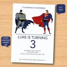 batman superman invitation tag free batman