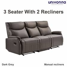 three seater recliner sofa genuine italian cowhide leather 3 seater recliner sofa antonio