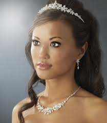 bridal tiaras stress away bridal jewelry boutique silver and white pearl floral
