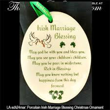 wedding blessing christmas ornament wedding blessing with shamrocks
