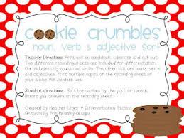 milk and cookies noun verb adjective sort milk sorting and