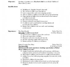 Daycare Teacher Resume 100 Resume For Child Care Teacher Frightening Image Of Template