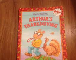 arthur s thanksgiving book marc brown arthur etsy