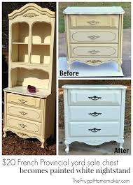 Dressers And Nightstands For Sale 20 Yard Sale French Provincial Painted Chest Turned Nightstand
