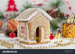 homemade gingerbread house candy windows on stock photo 342285221