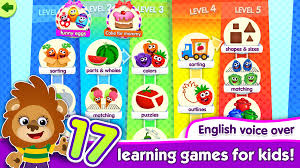 funnyfood kindergarten learning games for toddlers android apps