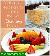 3 ideas for feeding before the big thanksgiving dinner