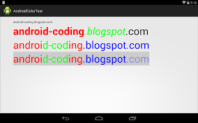 android color android coding display textview with multi color