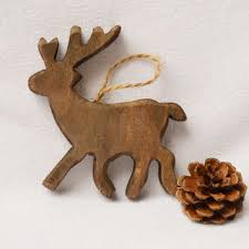shop wood deer ornaments on wanelo