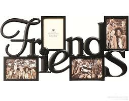 burnes of boston photo albums friends words 4 opening collage frame in abs moulded resin by