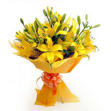 Bouquet Of Lilies Send Flowers To Mumbai Valentine Flowers To Mumbai Online Lilies