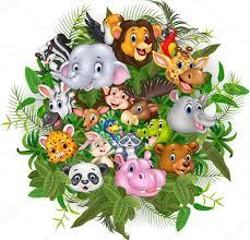 safari cartoon cartoon safari animals stock vector tigatelu 105991746
