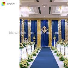wedding backdrop blue ida royal blue wedding drapery decorations buy