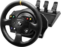 amazon com thrustmaster vg tx racing wheel leather edition