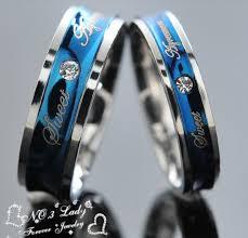 blue wedding rings 2016 new rings blue wedding engagement korean