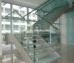 Glass Stair Rail by Glass Stairs Glass Stairs Suppliers And Manufacturers At Alibaba Com