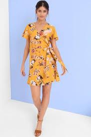 girls on film yellow print shift dress girls on film from little