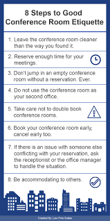 8 steps to good conference room etiquette law firm suites