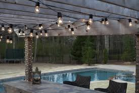 String Lights On Patio How To String Outdoor Patio Lights Home Design Ideas And Pictures