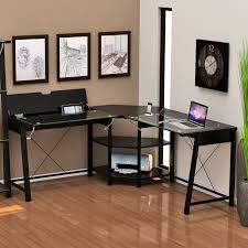 Omnirax Presto 4 Studio Desk Black by Z Line Belaire Glass L Shaped Computer Desk
