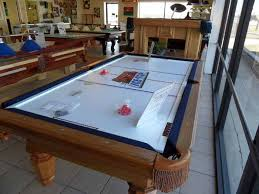 pool and air hockey table air hockey pool table conversion tops houspiration game room