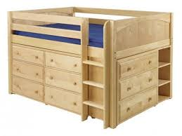 bedroom decorative full loft bed with storage wooden size junior