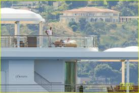leonardo dicaprio lounges on yacht in cannes again photo
