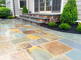 Bluestone For Patio by Carranza Hardscaping