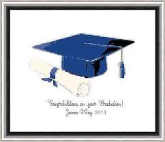 graduation cap for sale sale graduation cap blue pdf cross stitch by crossstitchbonanza