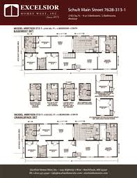 schult modular home floor plans schult main street 7628 313 1 excelsior homes west inc
