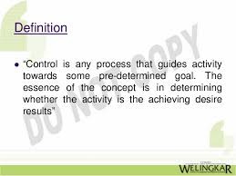 controlling definition principles of management chpt 17 controlling
