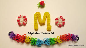 how to make alphabet letter m charm on rainbow loom youtube