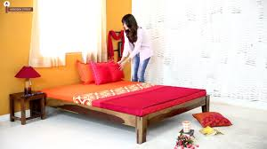 Double Bed by Double Beds Pamela Double Bed Online Wooden Street Youtube