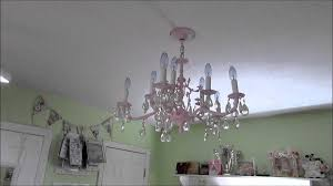 shabby chic chandelier youtube