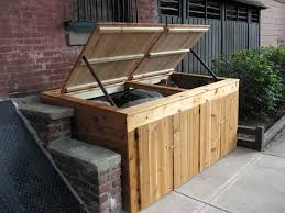 garbage can enclosure by shopdog lumberjocks com woodworking