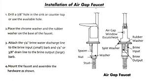 Water Softener Faucet How Air Gap Faucets Work
