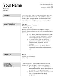 Resume Templates Printable Resume Free Template Download Free Resume Templates Printable