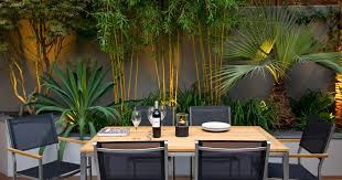 Small Garden Plants Ideas Creative Idea Stunning Patio With Rectangle Brown Dining Table