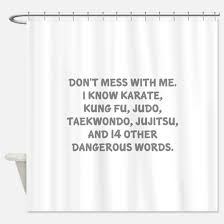 Words Shower Curtain Taekwondo Sayings Shower Curtains Cafepress