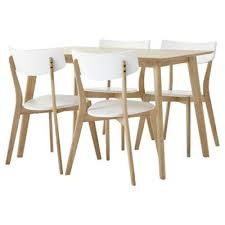 Tesco Dining Table And Chairs Buy Charlie Rectangular Dining Table And 4 Chair Set Oak Effect