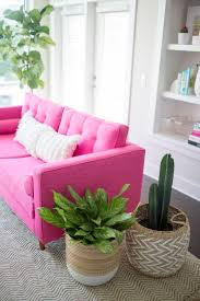 Pink Sofa Reviews Karlstad Sofa Ikea Hack Mid Century Inspired Pink Sofa Home